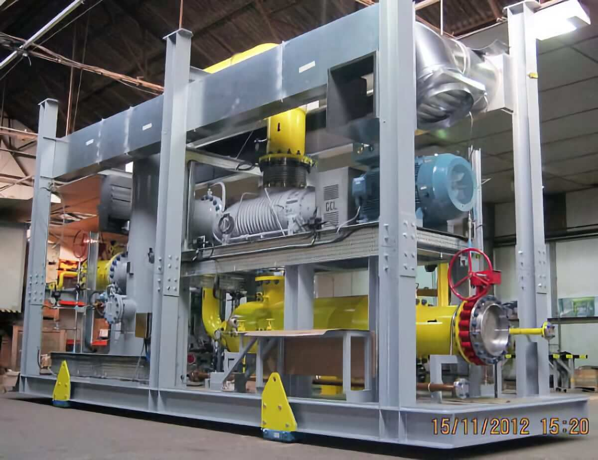 Recycle gas blower (Start-up gas, predominantly nitrogen) for ESD AG