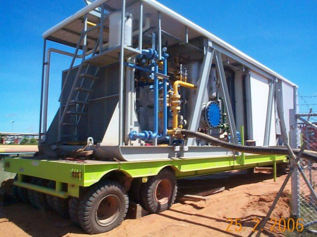 Mobile unit for stimulating flooded gas wells for PT Promatcon Tepatguna P034