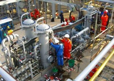 Wellhead Gas Compressor at Gas Processing Plant for Heavy Hydrocarbon Gas for PT Pertamina, Pangkalan Brandan, Sumatra, Indonesia